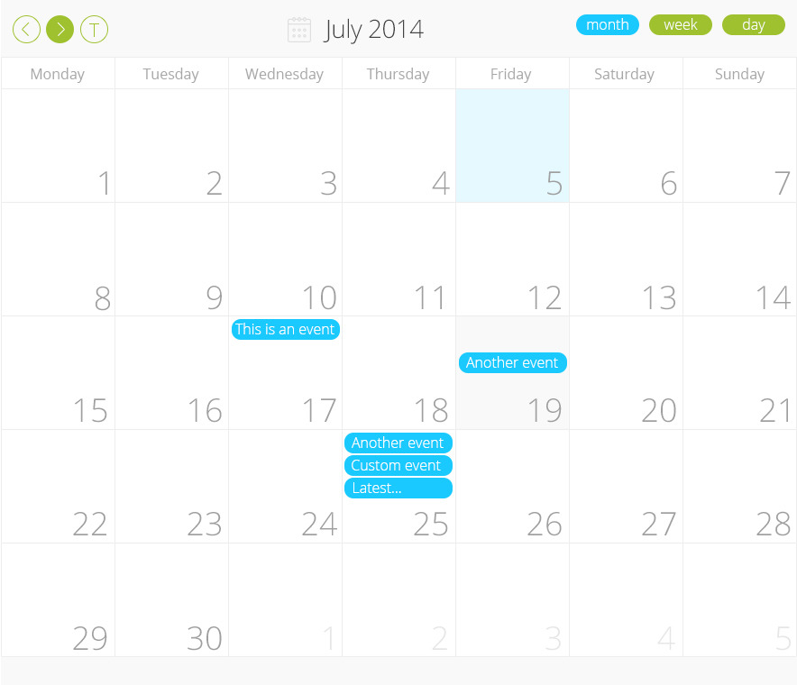 Nyx PRO scheduler Calendar for WordPress