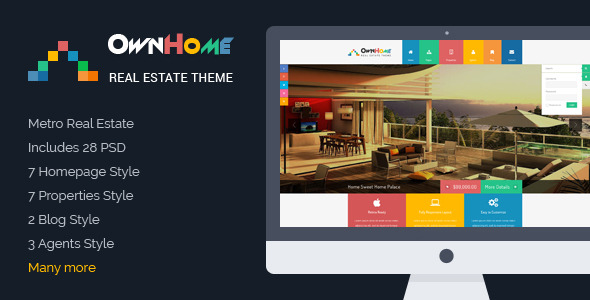 OwnHome Real Estate Metro Style PSD Template