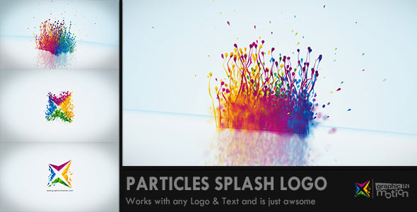 Particles Splash Logo Reveal