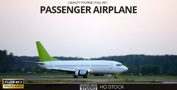Passenger Airplane at Airport 5 in 1