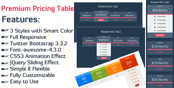 Premium Pricing Table
