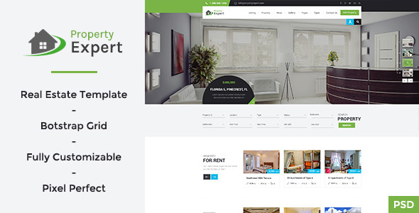 Property Expert Real Estate PSD Template