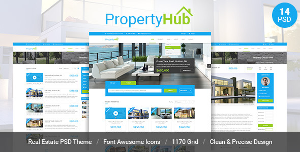 Property Hub Real Estate PSD Theme