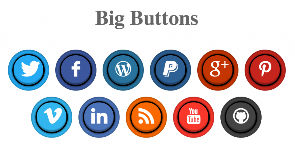 Pure CSS Social Arcade Buttons.