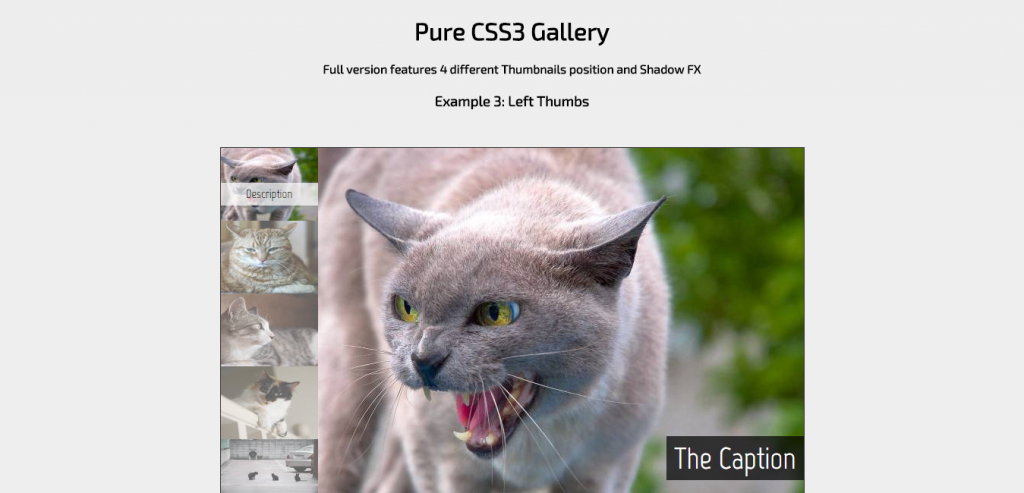 Pure CSS3 Gallery