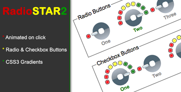 Radio Star 2 Pure css3 radio and checkbox theme