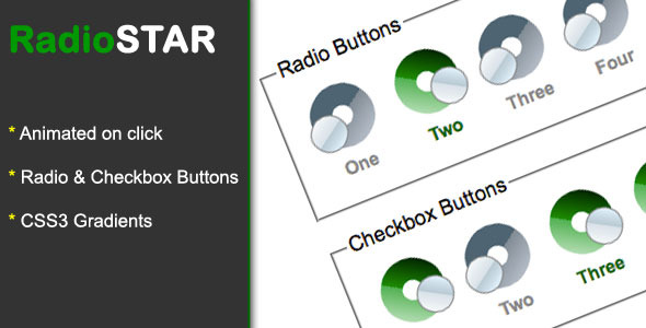 Radio Star Pure css3 radio and checkbox theme
