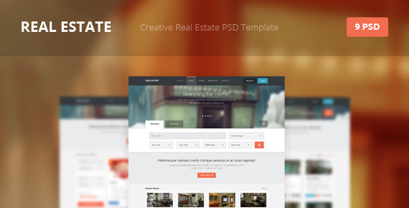 Real Estate Creative PSD Template