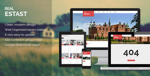 RealEstast Real Estate PSD Template