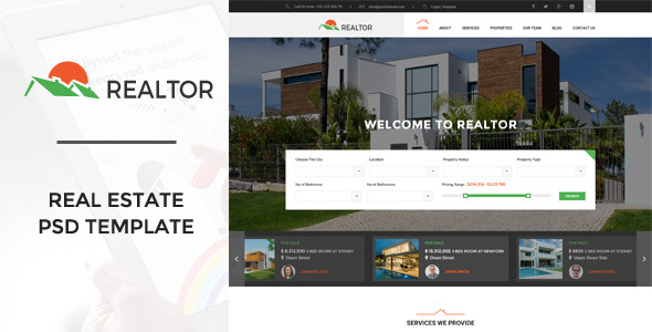 Realtor Real Estate PSD Template