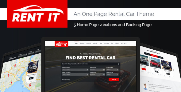 Rent It Car Rental Management PSD Theme