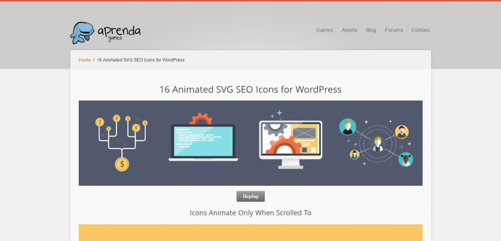 SEO Icons Animated SVG's for WordPress
