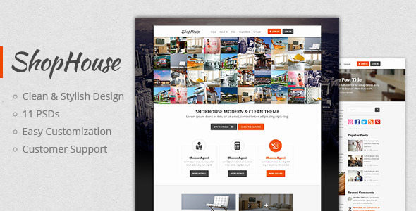 ShopHouse Premium PSD Template