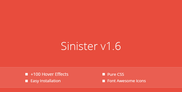 Sinister Pure CSS Image Hover Effects