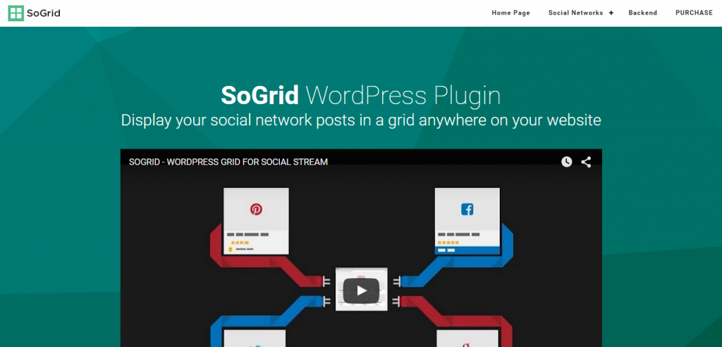 SoGrid WordPress Grid for Social Stream