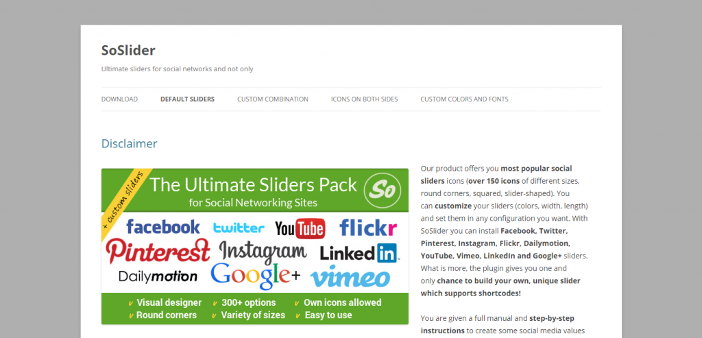 SoSlider Social Sliders for WordPress