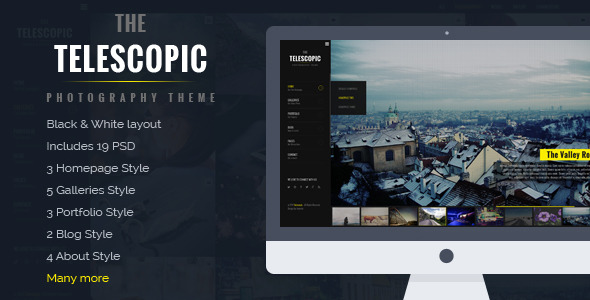 Telescopic Fullscreen Photography PSD Template