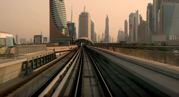 Train Tracks and Station going into Dubai