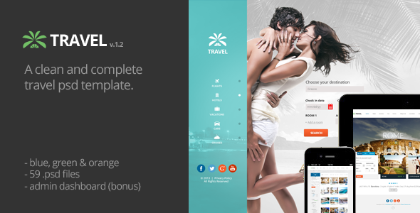 Travel Agency Multipurpose Booking PSD Template