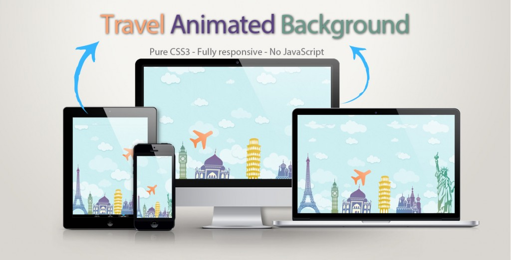 Travel Animated Background