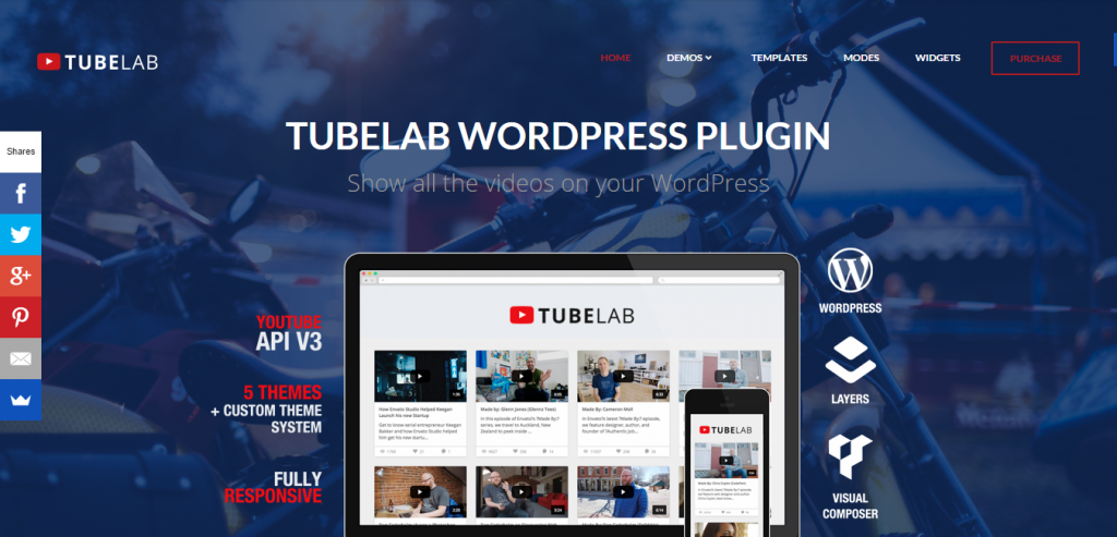 Tubelab YouTube plugin for WordPress