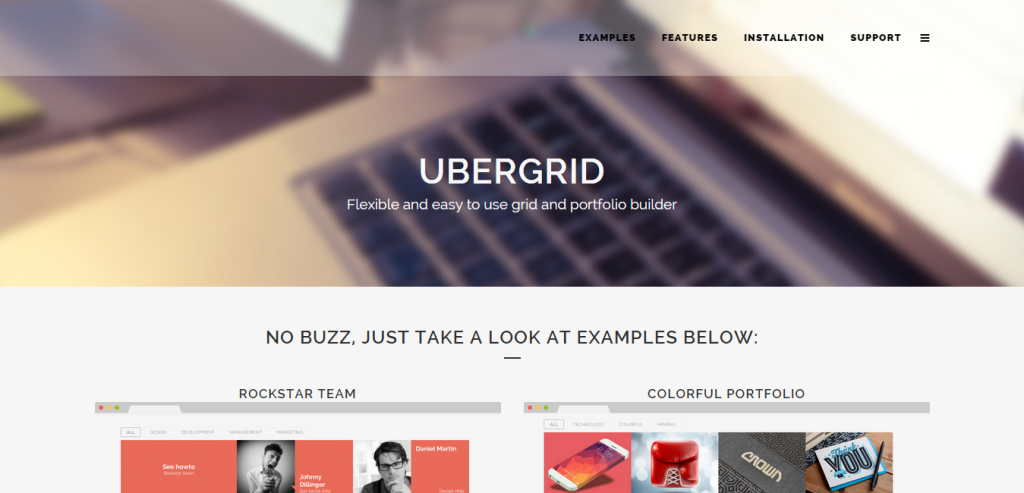 UberGrid responsive grid builder for WordPress