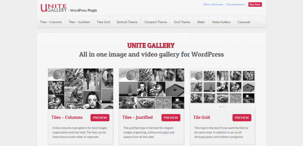 Unite Gallery WordPress Plugin