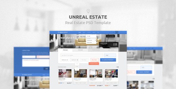 Unreal Estate Real Estate PSD Template