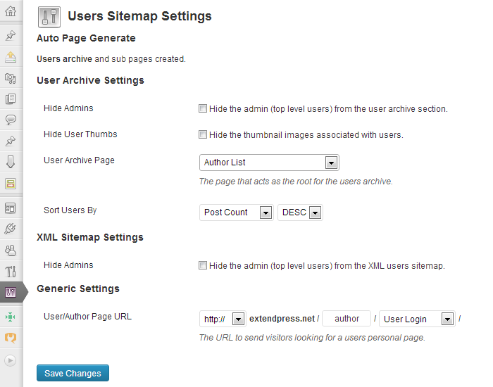 Users Sitemap & Archive WordPress Plugin