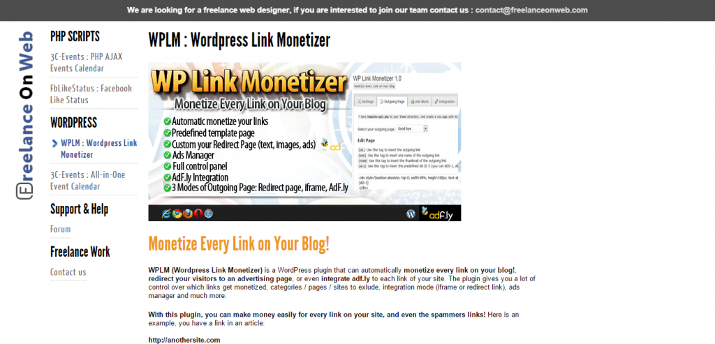 WPLM WordPress Link Monetizer
