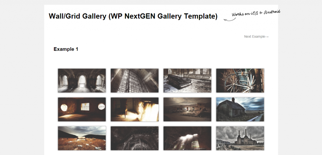 Wall Grid Gallery (WP NextGEN Gallery Template)