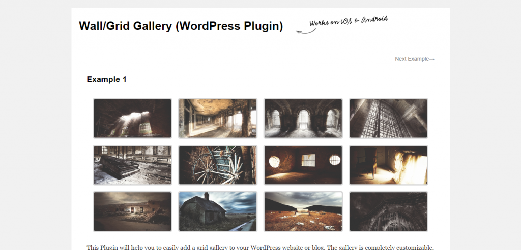 Wall Grid Gallery (WordPress Plugin)