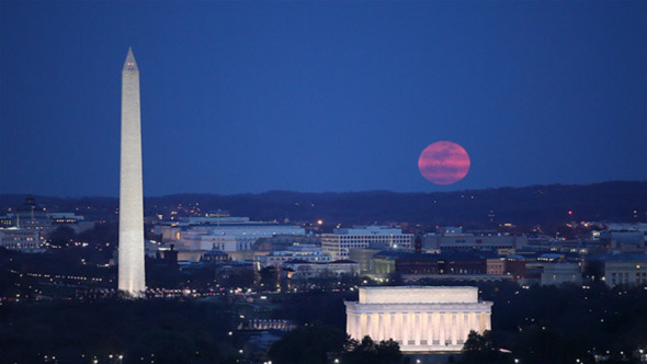 Washington DC Super Moon