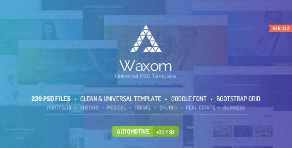 Waxom Clean & Universal PSD Template