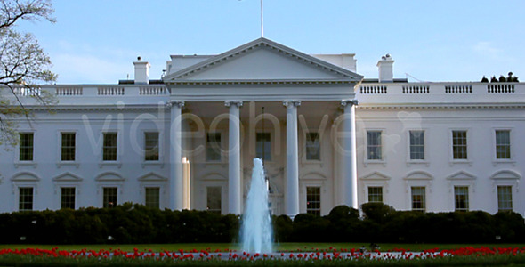 White House in the spring Full HD