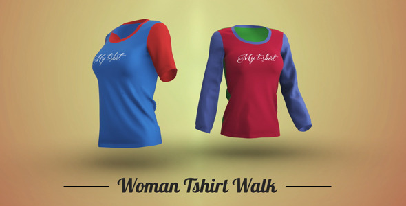 Woman Tshirt walk