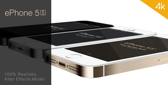 ePhone 5s Realistic After Effects Model
