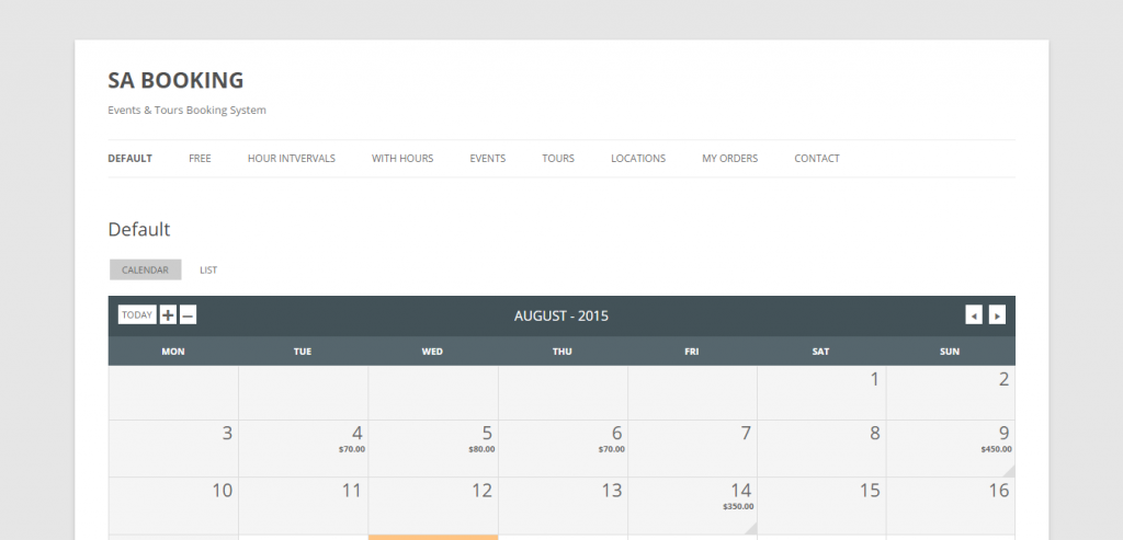 saBooking Tours & Events Booking WP Plugin