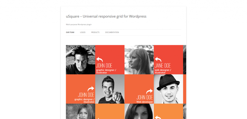 uSquare Universal responsive grid for WordPress