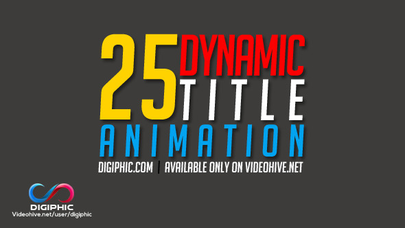 25 Dynamic Title Animation