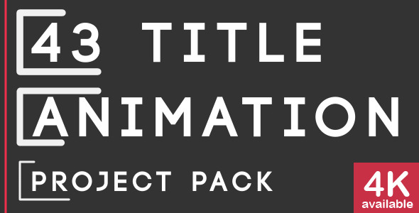 43 Title Animation