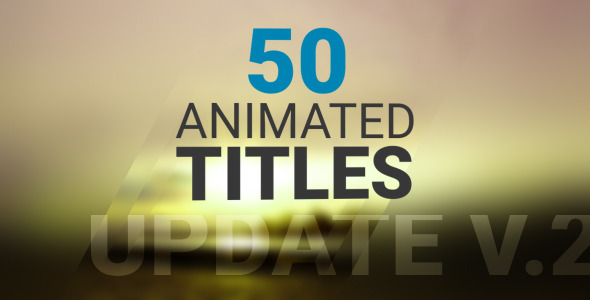 50 Animated Titles