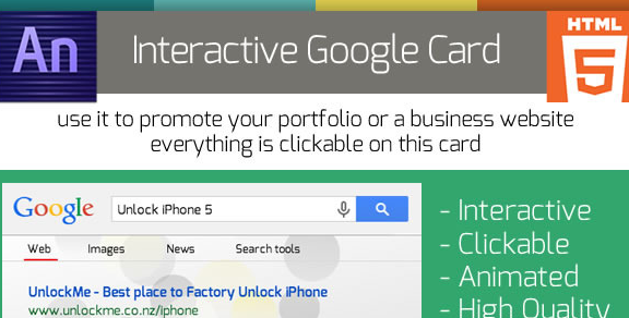 Animated Google Search Business Card