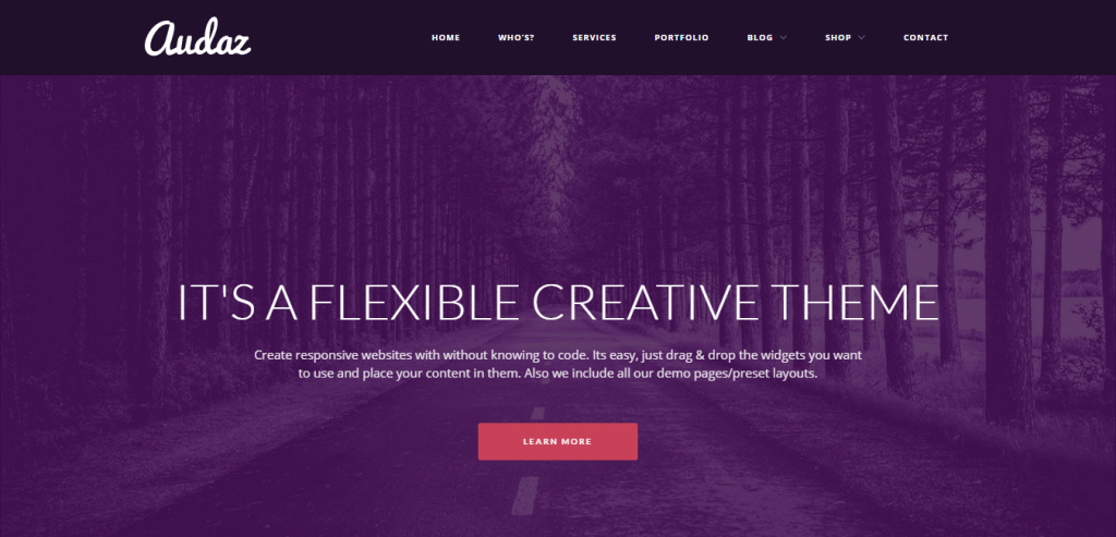 Audaz Creative & Multipurpose WordPress Theme