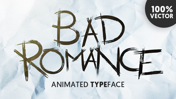 Bad Romance Animated Typeface