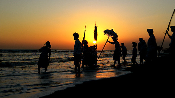 Bali Ritual Ceremony in Sunset Beach