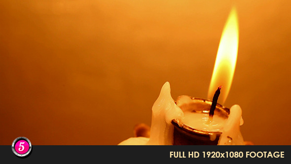 Candle Lit With Flame