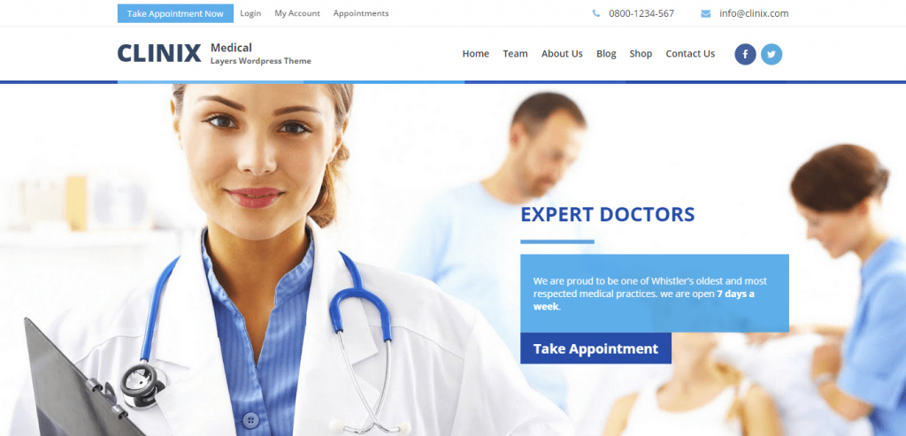 Clinix Medical Layers Woocommerce WordPress Theme