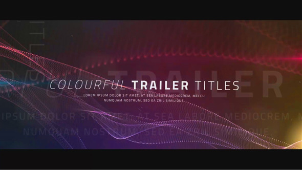 Colourful Trailer Titles