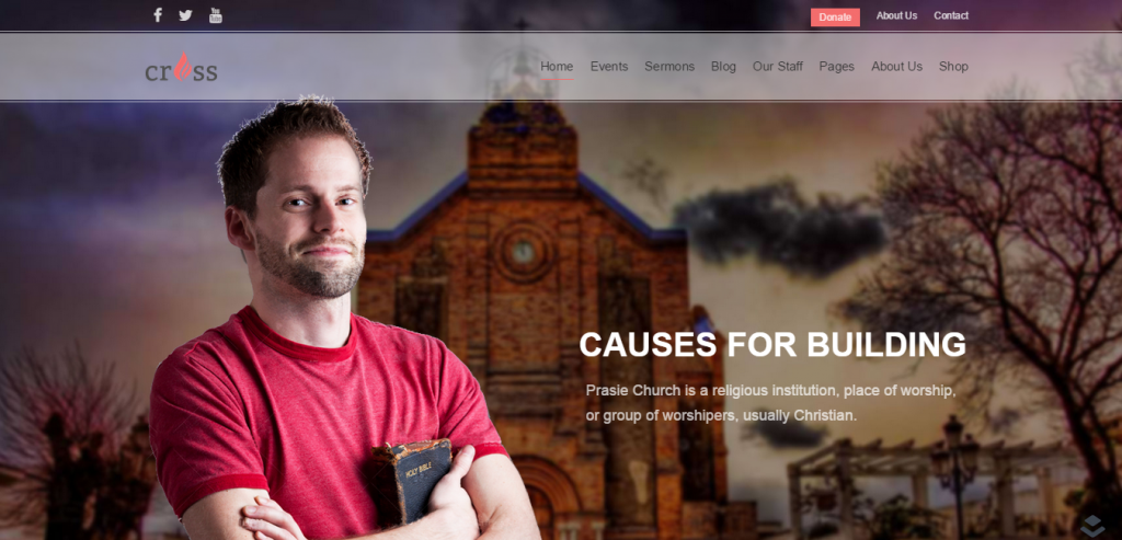 Cross Church WordPress Template